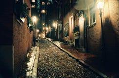 1987年橡子秋天街道 免版税库存照片