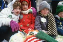 1987年圣帕特里克的日游行, 库存图片