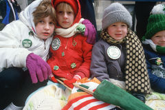 The 1987 St. Patrick's Day Parade, Stock Images