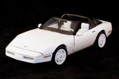 1988年Chevrolet Corvette白色 库存图片