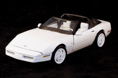 1988 blanco Chevrolet Corvette Imagenes de archivo