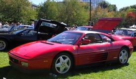1992年Ferrari 348实验装置 库存图片