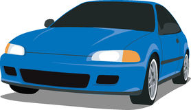 1992 Honda Civic Si. A Vector .eps illustration of a 1992 Civic Si hatchback. Saved in layers for easy editing. See my portfolio for more automotive images Stock Illustration