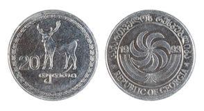 1993枚硬币英王乔治一世至三世时期老年 图库摄影