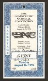 1996 Democratic Convention Ticket. Original autographed ticket to the 1996 Democratic Convention held at the United Center in Chicago Illinois. This is an royalty free stock photos