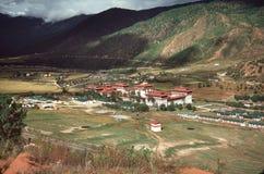 不丹村庄 免版税库存图片
