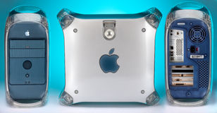 1999 2004年Apple计算机g4橡皮防水布次幂 图库摄影