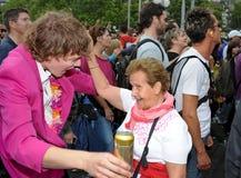 A 19a parada da rua em Zurique, 1ô 2010 august Fotografia de Stock Royalty Free