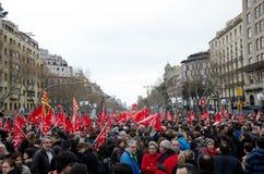 19f ο ογκώδης δήμαρχος ράβδων οργανώνει τις ενώσεις διαμαρτυρίας Στοκ Εικόνα