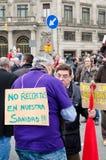 19f ο ογκώδης δήμαρχος ράβδων οργανώνει τις ενώσεις διαμαρτυρίας Στοκ φωτογραφίες με δικαίωμα ελεύθερης χρήσης