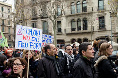 19F - de burgemeester Unie organiseert massief protest in Staaf Stock Foto's