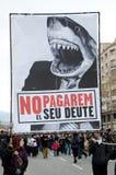 19F - de burgemeester Unie organiseert massief protest in Staaf Royalty-vrije Stock Foto