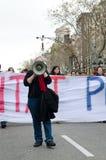 19F - de burgemeester Unie organiseert massief protest in Staaf Stock Fotografie