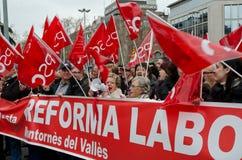 19F - el alcalde uniones ordena protesta masiva en barra Fotografía de archivo libre de regalías