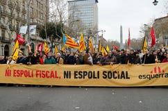 19F - el alcalde uniones ordena protesta masiva en barra Foto de archivo
