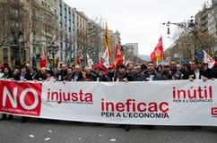 19F - il sindaco sindacati organizza la protesta voluminosa in barra Immagine Stock Libera da Diritti