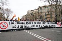 19F - il sindaco sindacati organizza la protesta voluminosa in barra Fotografie Stock Libere da Diritti