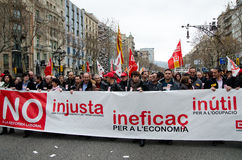 19F - mayor Unions organize massive protest in Bar Royalty Free Stock Image