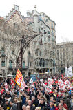 19F - mayor Unions organize massive protest in Bar Stock Image