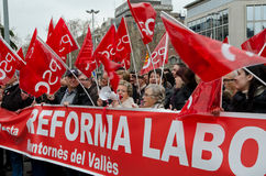 19F - o mayor uniões organiza o protesto maciço na barra Fotografia de Stock Royalty Free