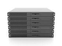 19inch Server Stack. 3D rendered Illustration. A stack of 19 ich Servers stock illustration