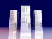 19inch Server towers. 3D rendered Illustration.19inch Server towers royalty free illustration