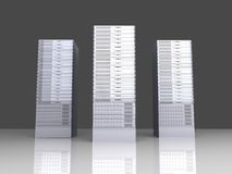 19inch Server towers. 3D rendered Illustration. 19inch Server towers vector illustration