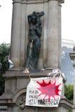 19J internationale Demonstration Barcelona Stockfotos