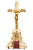 19o Crucifix do século com figura dourada de Jesus Foto de Stock Royalty Free