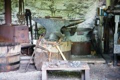 19th магазин столетия blacksmith стоковое изображение rf