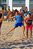 19th спичка лиги гандбола cadiz пляжа Стоковые Фото