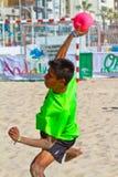 19th спичка лиги гандбола cadiz пляжа Стоковые Изображения RF
