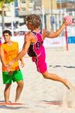 19th спичка лиги гандбола cadiz пляжа Стоковое Изображение
