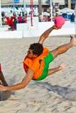 19th спичка лиги гандбола cadiz пляжа Стоковая Фотография RF