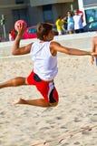 19th спичка лиги гандбола cadiz пляжа Стоковое фото RF