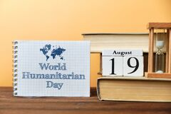Free 19th August - World Humanitarian Day. Nineteenth Day Month Calendar Concept On Wooden Blocks With Copy Space Stock Image - 191114321