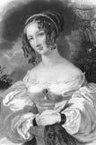 19th brittiska århundradekvinna Arkivbilder