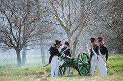 19th century battle reenactment Stock Photos
