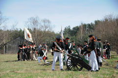 19th century battle reenactment Stock Photo