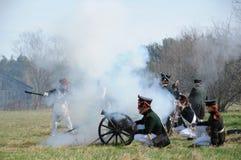 19th century battle reenactment Stock Image