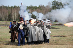 19th century battle reenactment Royalty Free Stock Photography