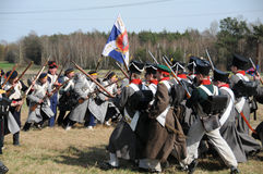 19th century battle reenactment Stock Image