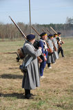 19th century battle reenactment Royalty Free Stock Image