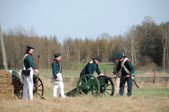 19th century battle reenactment Royalty Free Stock Photo