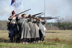 19th century battle reenactment Royalty Free Stock Photos