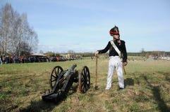 19th century battle reenactment Royalty Free Stock Photos