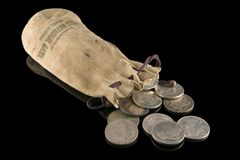 19th Century Silver Dollars Royalty Free Stock Image