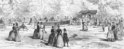 19th Century Tennis in Germany Royalty Free Stock Images