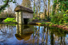 19th century watermill in Bunratty Folk Park. Co. Clare, Ireland Stock Images