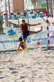 19th match för liga för strandcadiz handboll Arkivfoton